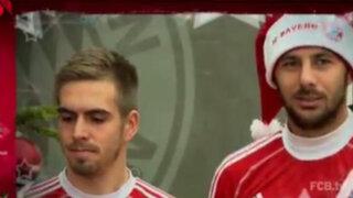 VIDEO: Pizarro se vistió de Papá Noel y cantó villancicos con el Bayern Munich