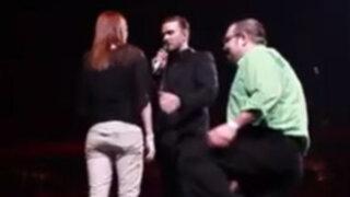 VIDEO: Justin Timberlake detuvo concierto para ser parte de pedida de mano