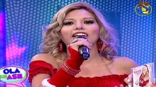 La 'Gloria Trevi Peruana' se vistió de sexy Mamá Noela para cantar villancicos