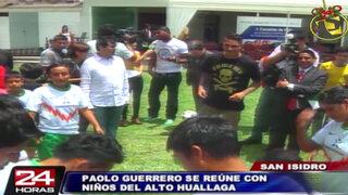 Paolo Guerrero se reunió con hijos de ex cocaleros del Alto Huallaga