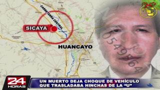 Hincha de Universitario que viajaba a Huancayo muere en accidente vehicular