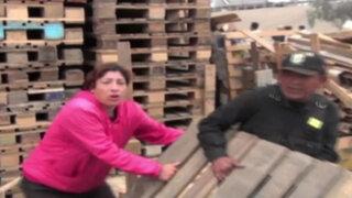 Recicladores se enfrentan a serenos en violento desalojo  en El Agustino