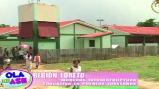 Loreto fortalece infraestructura en colegios ubicados en zonas alejadas