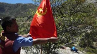 Terroristas derriban torres de alta tensión y colocan banderas en Ayacucho