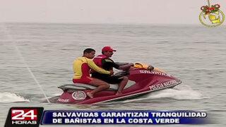 Policía de Salvataje garantiza seguridad de bañistas en la Costa Verde
