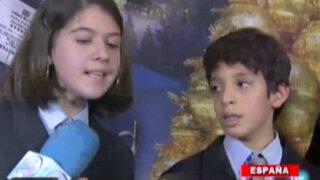 Niño de origen peruano cantó el número ganador de la lotería en España