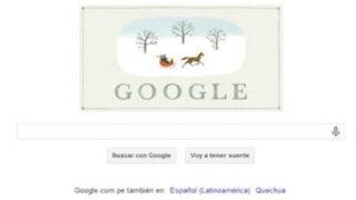 """Google desea felices fiestas con """"doodle"""" navideño"""