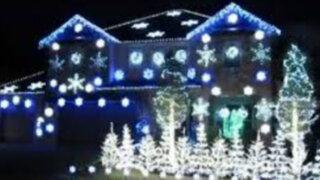 Bloque Navideño: hombre decoró la fachada de su casa con asombroso juego de luces