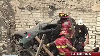 Joven murió tras caer su vehículo en zanja de 40 metros en La Molina