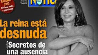 Revista publica en portada foto de presidenta Cristina Fernández desnuda