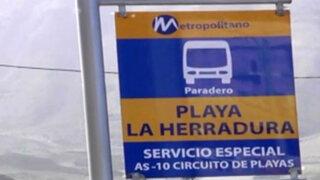 El Metropolitano estrena ruta por circuito de playas este sábado