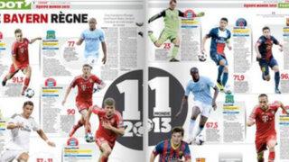 Conoce el equipo el equipo ideal de 2013, según el diario francés L'Equipe