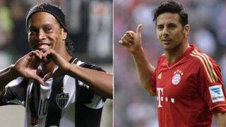 Claudio Pizarro y Ronaldinho en la mira de un mismo equipo ¿Jugarán juntos?