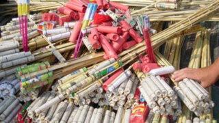 Chiclayo: Decomisan tonelada y media de artefactos pirotécnicos ilegales