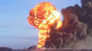 EEUU: Tren colisionó contra otro que se había descarrilado e incendiado antes