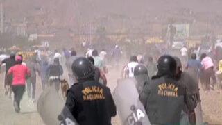 Jicamarca: pobladores desataron violento enfrentamiento por intento de desalojo