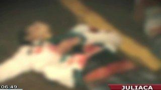 Ladrones acuchillaron a dos jóvenes fuera de una discoteca en Juliaca