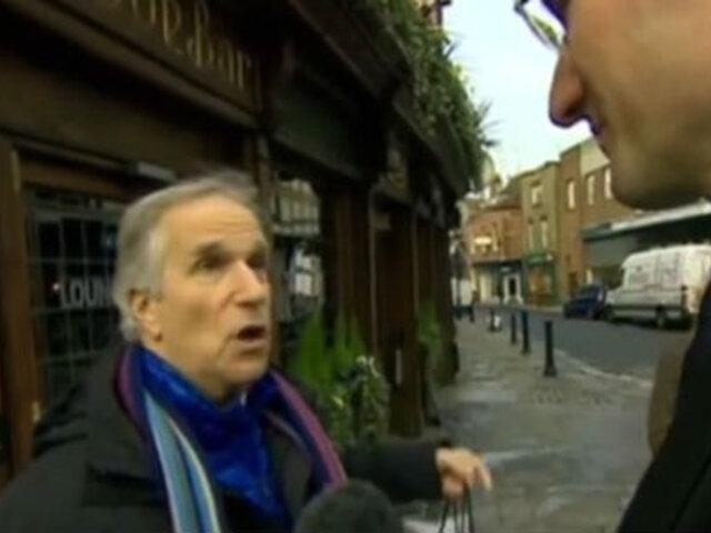 VIDEO: un reportero de la BBC encuestó a 'Fonzie' sin saber quién era