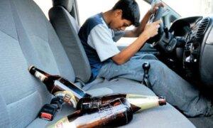 Más de 11 mil choferes perdieron brevete por conducir ebrios el 2013