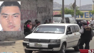 Ex pareja habría ordenado asesinato de taxista en San Juan de Lurigancho