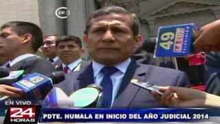 Ollanta Humala: Concentración de medios debe ser debatida en el Congreso