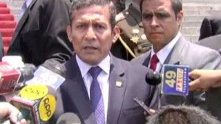 Humala: no es prioridad del gobierno plantear un proyecto sobre medios