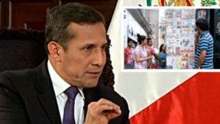 Humala: Ley sobre Concentración de Medios no es mi prioridad