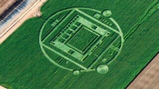 ¿Extraterrestres? Extraña figura apareció en un cultivo al norte de California