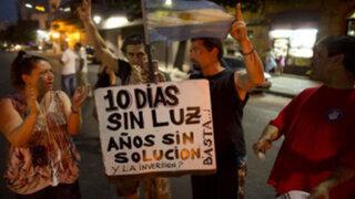 Gobierno argentino ordena indemnizar a los afectados por apagones