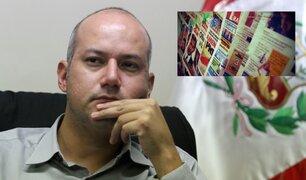 Sergio Tejada: No hay ley de prensa escrita pero debe haber reglas claras