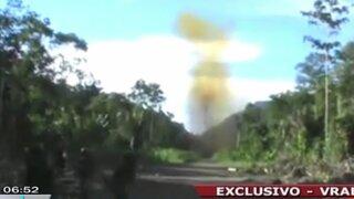 Vraem: Fuerzas combinadas destruyeron seis pistas clandestinas del narcotráfico