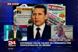 Óscar Valdés: Es peligrosa una ley que regule los medios de comunicación
