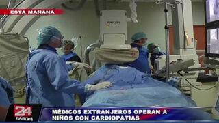 Médicos extranjeros operaron gratis a niños con enfermedades cardiacas
