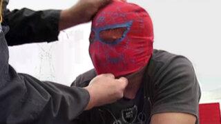 Banda de raqueteros del 'Hombre Araña' fue detenida en la Panamericana Sur