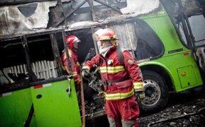Sujetos desadaptados incendiaron ómnibus en el distrito de Independencia