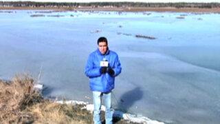 EEUU: reportero de Panamericana Televisión soportó la intensa ola de frío