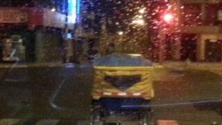 Inusual lluvia de verano sorprendió a habitantes de cuatro distritos de Lima