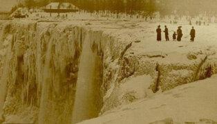 FOTOS: Cataratas del Niágara también quedaron congeladas en 1848