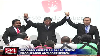 Ministerio de Justicia presentó a Christian Salas como procurador anticorrupción
