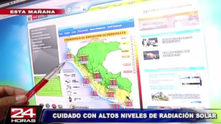 Lima, Piura, Junín y Tumbes soportarán un alto índice de radiación solar