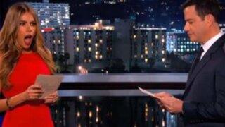 VIDEO: Sofía Vergara abofetea a presentador Jimmy Kimmel por broma pesada
