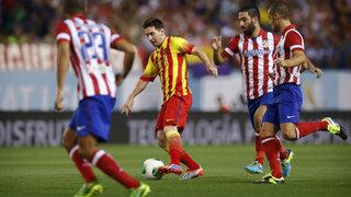 Atlético de Madrid y Barcelona empataron y siguen compartiendo la punta