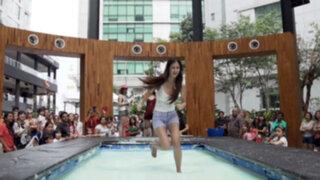VIDEO: personas caminan sobre al agua en un alucinante comercial
