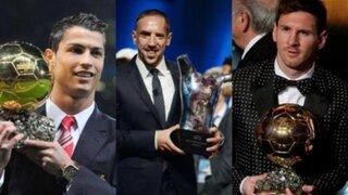 Balón de Oro 2013: Cristiano Ronaldo, Lionel Messi y Ribéry van por el galardón