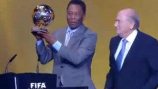 VIDEO: Pelé recibió el Balón de Oro honorífico en medio de lágrimas
