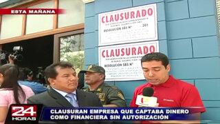 Clausuran local de World Capital Market 777 en el Cercado de Lima