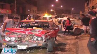 Suboficial de la FAP ebrio provocó triple choque y dejó seis heridos en SJL