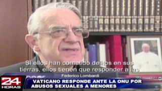 La ONU interrogó al Vaticano por casos de abusos sexuales a menores