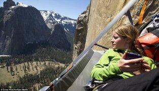 FOTOS: pareja acampa en una pendiente de más de 3,000 metros de altura