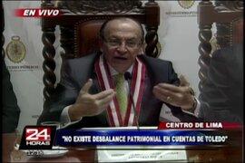 Fiscal Peláez: No existe desbalance patrimonial en cuentas de Alejandro Toledo